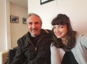 Xavier Thibaut et EmilieAnneCharlotte avant l'enregistrement d'une émission pour France 3 Picardie.