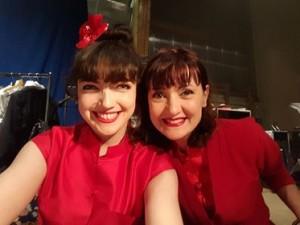 Dominique Martinelli et EmilieAnneCharlotte lors d'un concert du Grand Orchestre du Splendid.