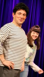 Michel Guidoni et EmilieAnneCharlotte au théâtre des 2 ânes.