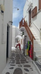 Les rues blanches - Mykonos